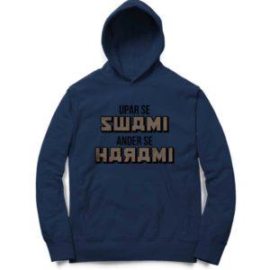 Upar Se Swami Under Se Navy Blue Harami Hoodie