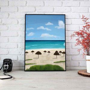 Beach Landscape Framed Poster