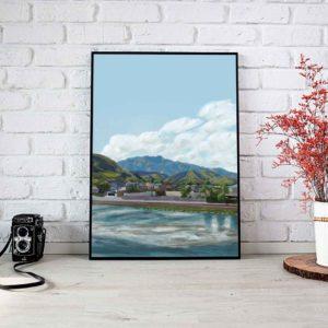 Japanese Landscape Framed Poster