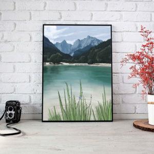 Lagoon Landscape Framed Poster