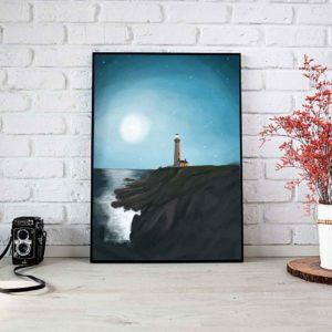 Lighthouse Framed Poster