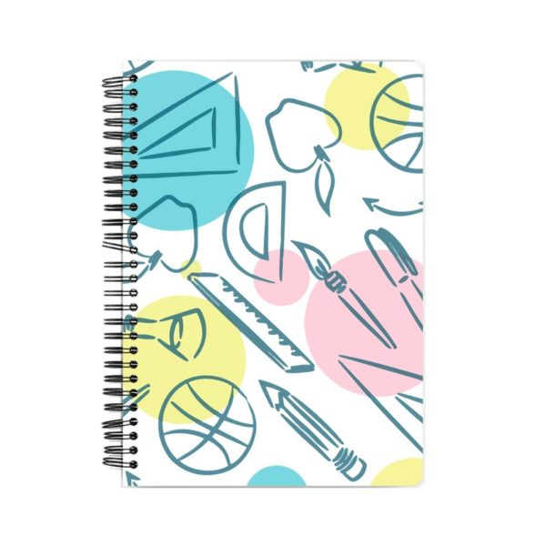 Stationery Pattern Notebook Front