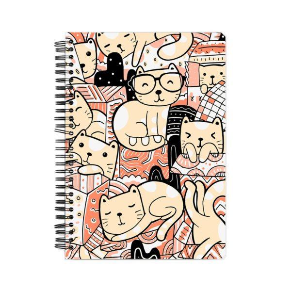 Playful Cats Spiral Notebook Front