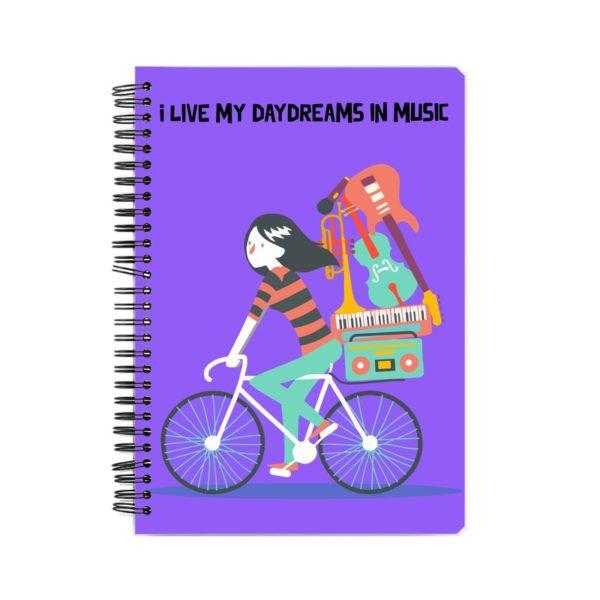 Daydreams in Music Spiral Notebook