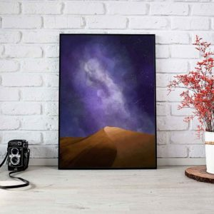 Nocturnal Dunes Framed Poster