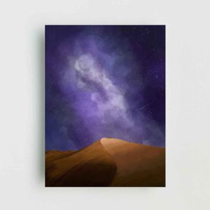 Nocturnal Dunes Poster