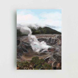 Poas Volcano Landscape Poster
