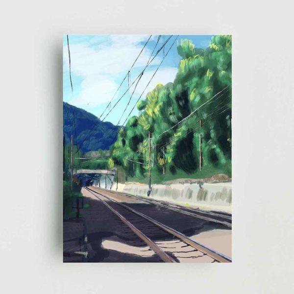 Japanese Railway Poster