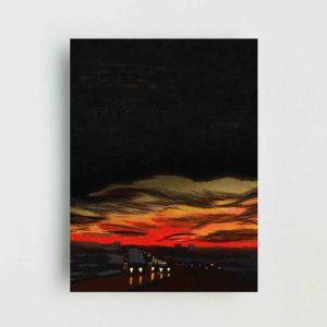 Highway Landscape Poster