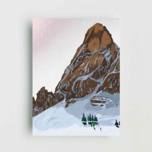 Snowy Mountain Landscape Poster