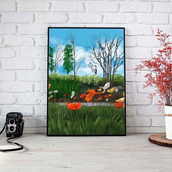 Spring Landscape Framed Poster