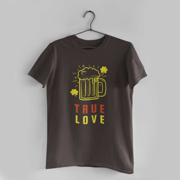 True Love Charcoal Grey Round Neck T-Shirt
