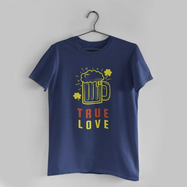 True Love Navy Blue Round Neck T-Shirt