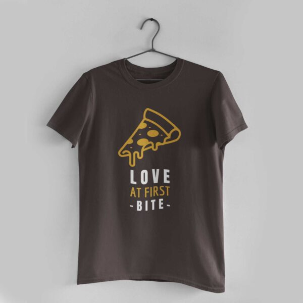 Love at First Bite Charcoal Grey Round Neck T-Shirt