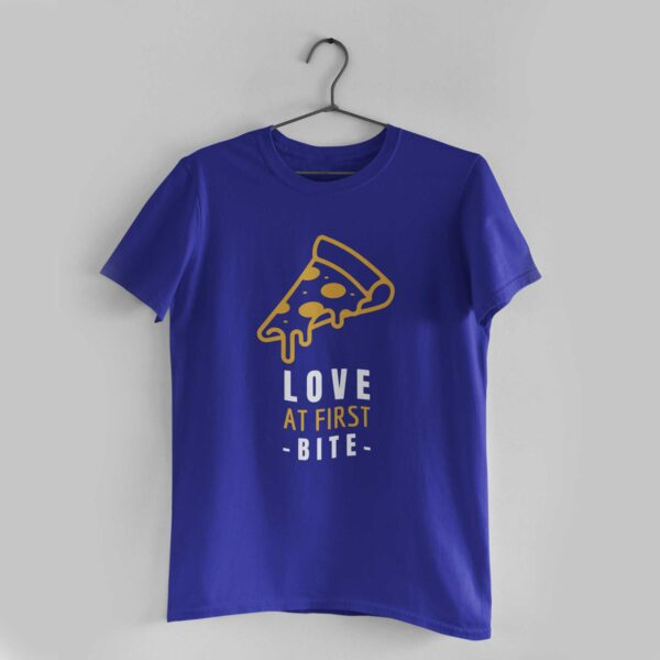 Love at First Bite Royal Blue Round Neck T-Shirt
