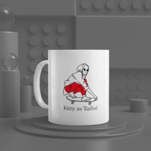 Keep on Rollin White Mug