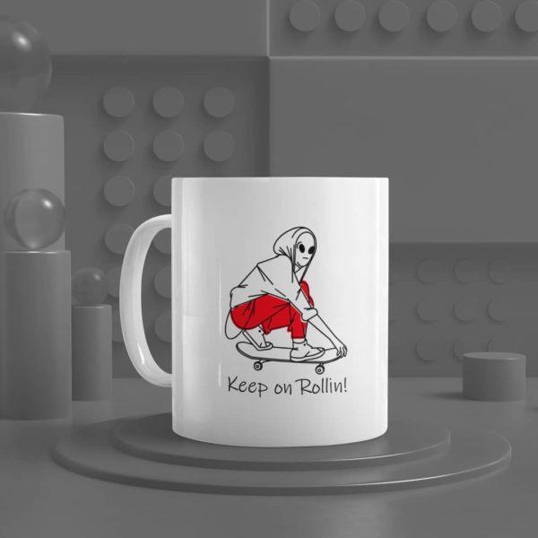 Keep on Rollin White Mug