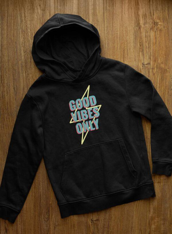 Good Vibes Only Black Hoodie