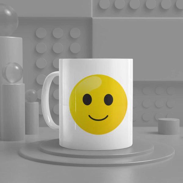 Smiling Face Emoji Ceramic Mug