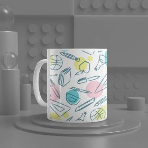 Stationery Pattern Ceramic Mug