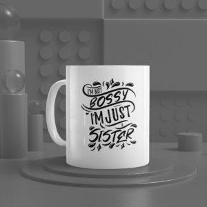 I'm Not Bossy White Ceramic Mug