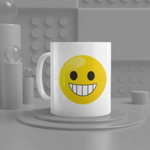 Beaning Face Emoji Ceramic Mug