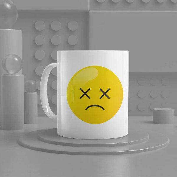 Dizzy Face Emoji Ceramic Mug
