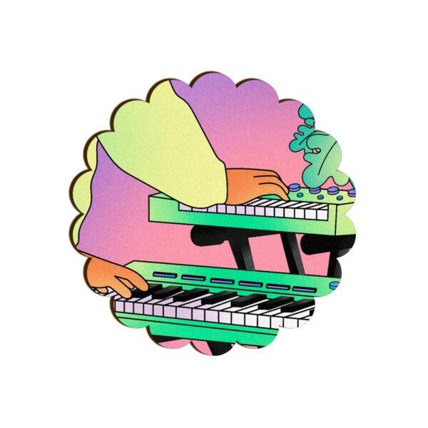Electronic Keyboard Scallop Coaster