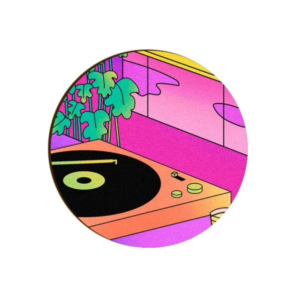 Gramophone Round Coaster