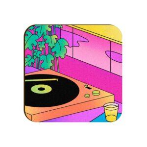 Gramophone Square Coaster