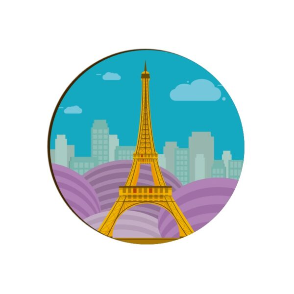 Eiffel Tower Round Coaster