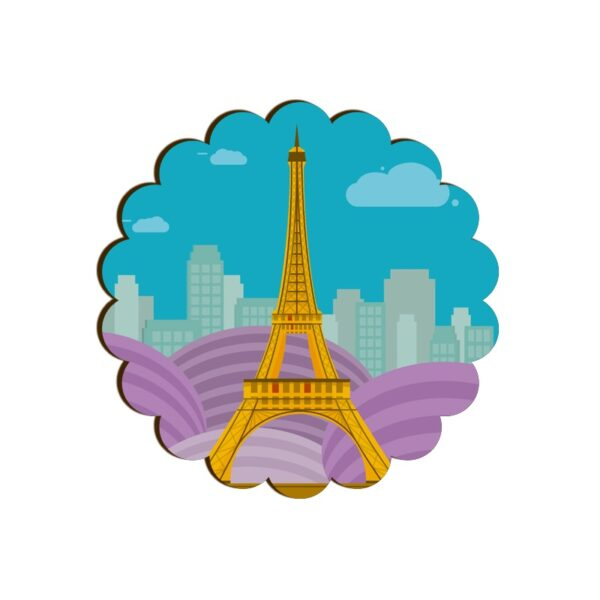 Eiffel Tower Scallop Coaster