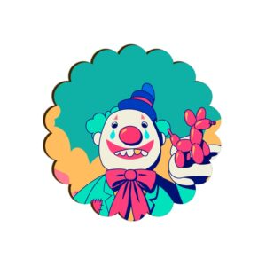 Clown Scallop Coaster