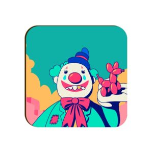 Clown Square Coaster