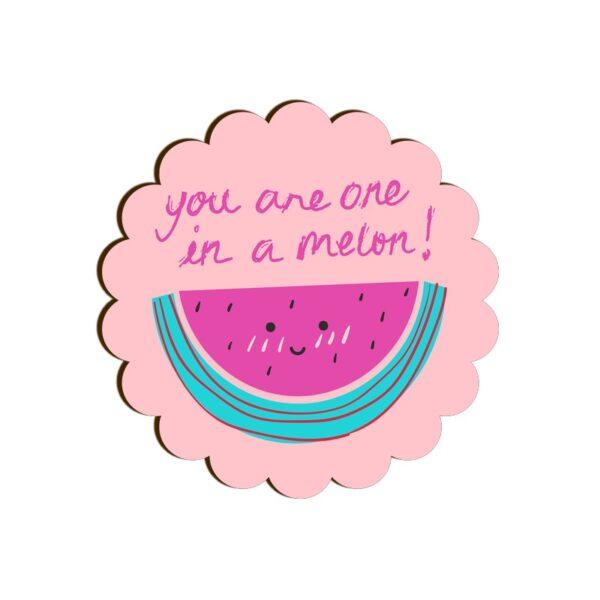 One in a Melon Scallop Coaster