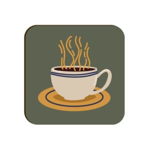 Coffee Cup Square Coaster