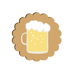 Beer Mug Scallop Coaster