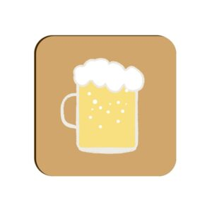 Beer Mug Square Coaster