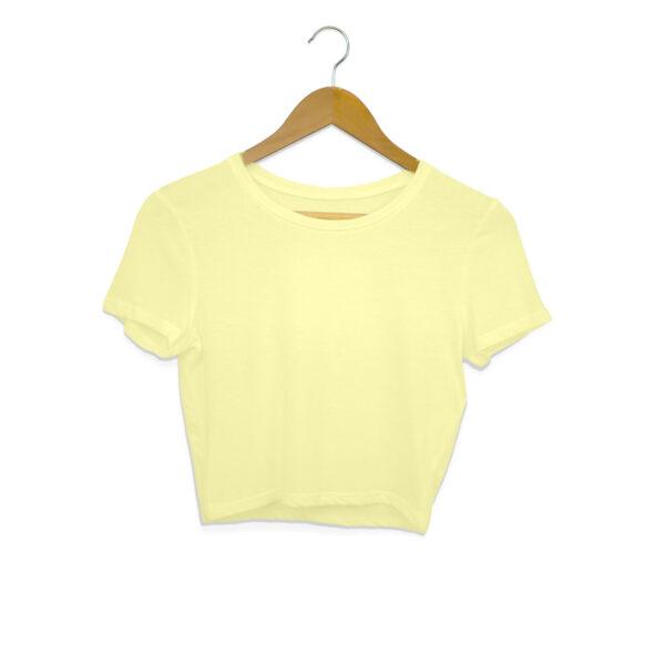 Butter Yellow Plain Crop Top