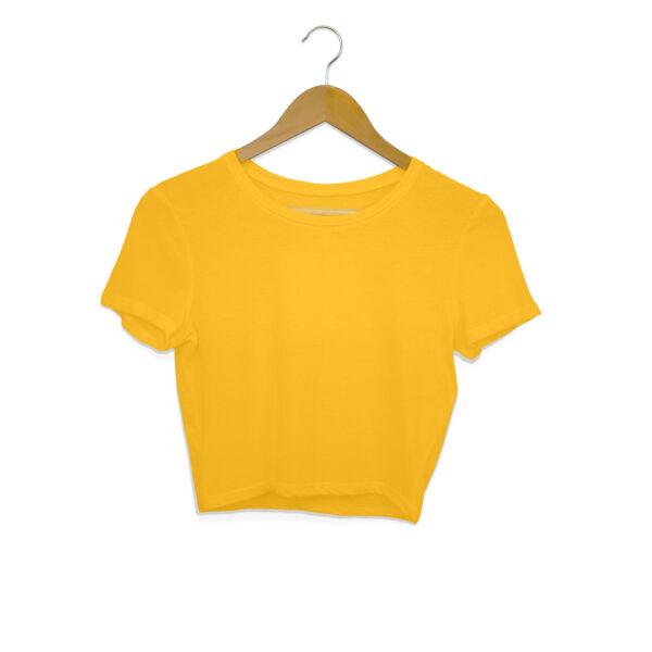 Golden Yellow Plain Crop Top