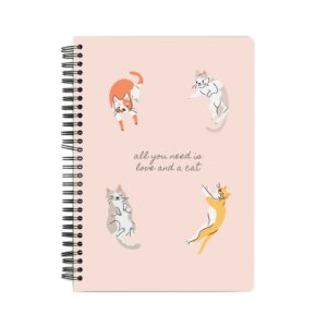 Love and a Cat Spiral Notebook Front
