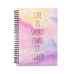 Life is Short Spiral Notebook Front