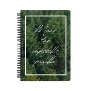 Make The Impossible Possible Spiral Notebook