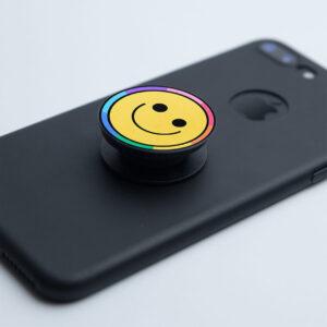 Smiling Emoji Pop Grip