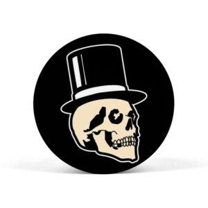 Skull Wearing Hat Pop Grip