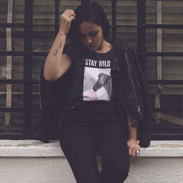 Stay Wild Round Neck T-Shirt