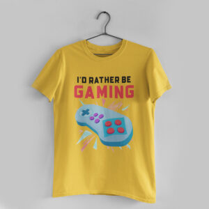 Be Gaming Golden Yellow Round Neck T-Shirt