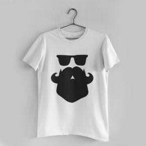 Beard Love White Round Neck T-Shirt