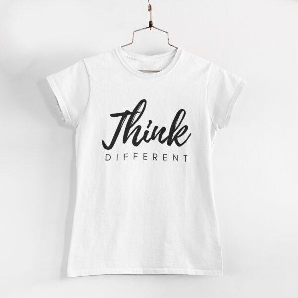 Think Different White Round Neck T-Shirt