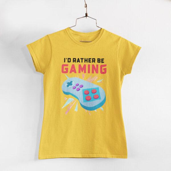 Be Gaming Women Golden Yellow Round Neck T-Shirt
